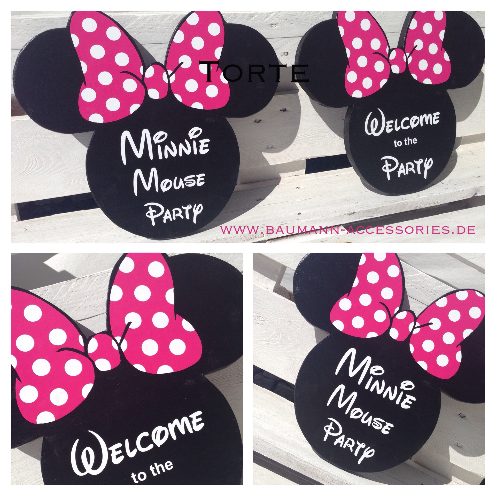 die vorbereitungen f r die minnie mouse party laufen baumann accessories. Black Bedroom Furniture Sets. Home Design Ideas