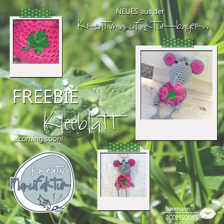 Werbung Freebie Kleeblatt