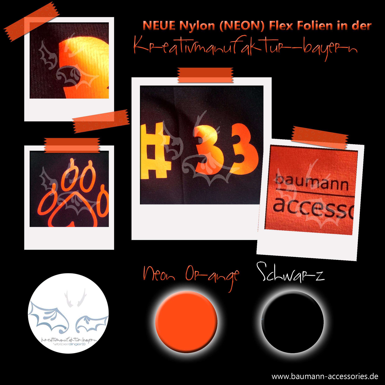 Werbung Nylon Neon Flex Folien