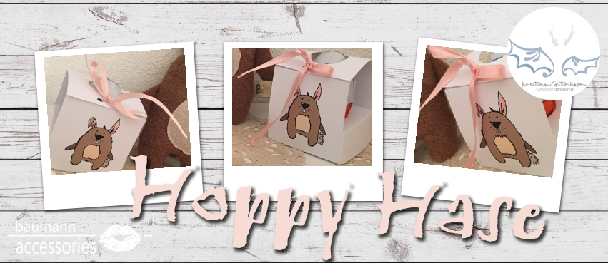 Collage Hoppy Hase Verpackung