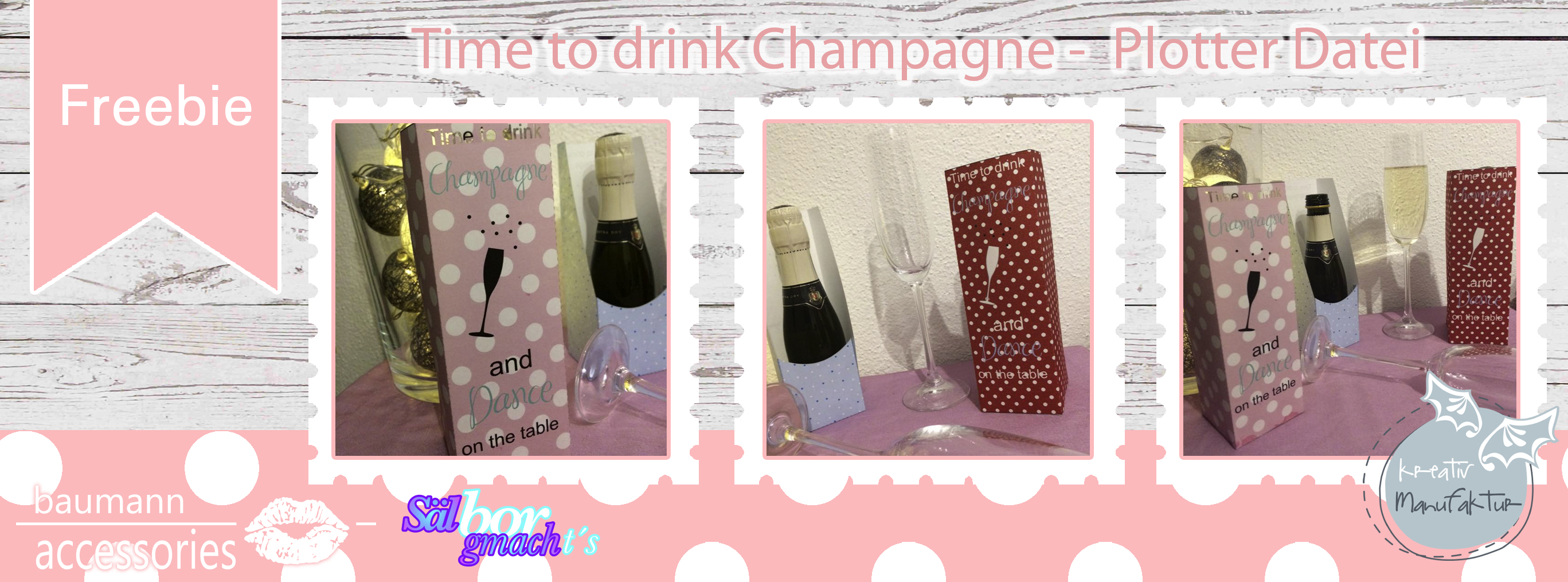Collage Freebie Time to drink Champagne