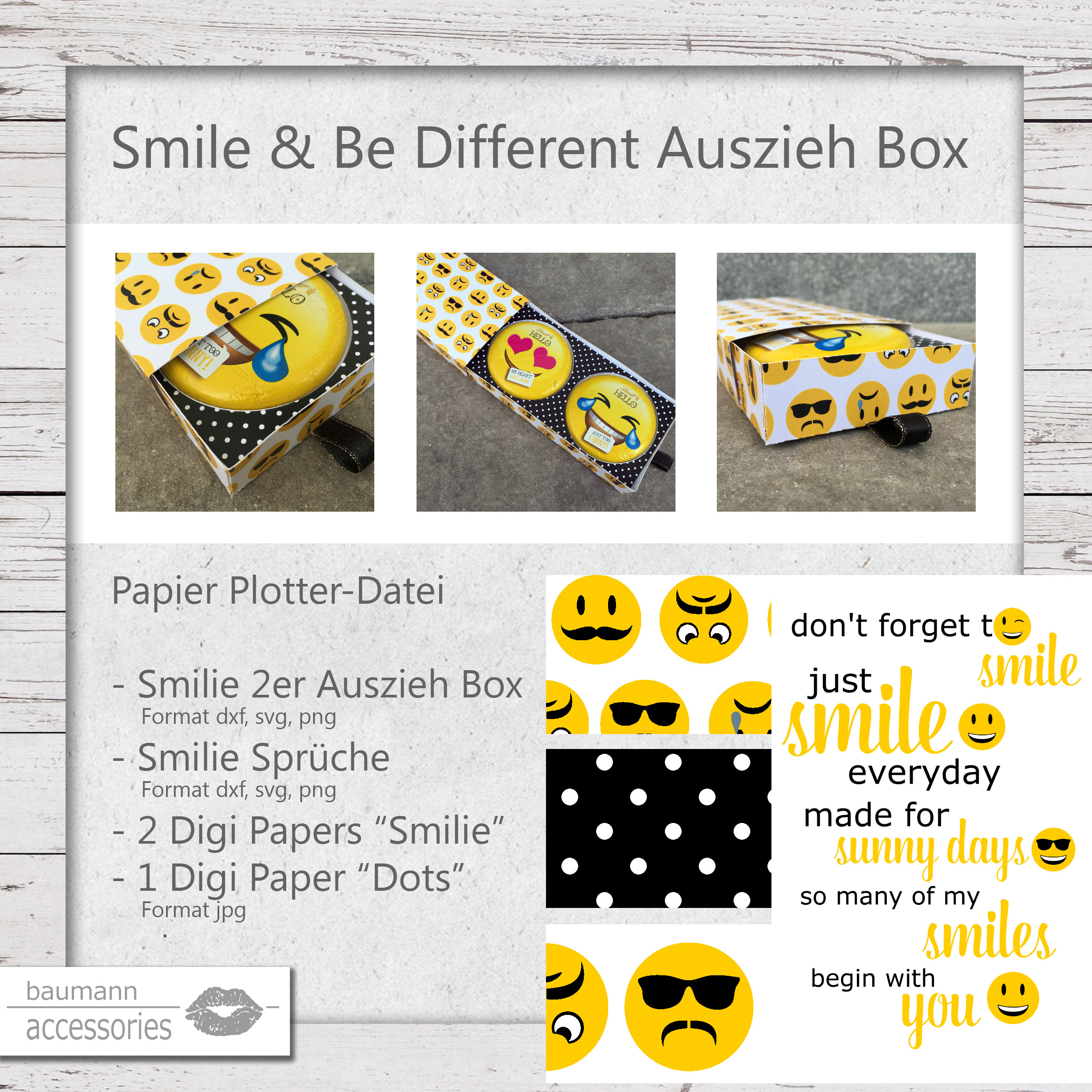 Produkt Smile & Be Different Auszieh Box