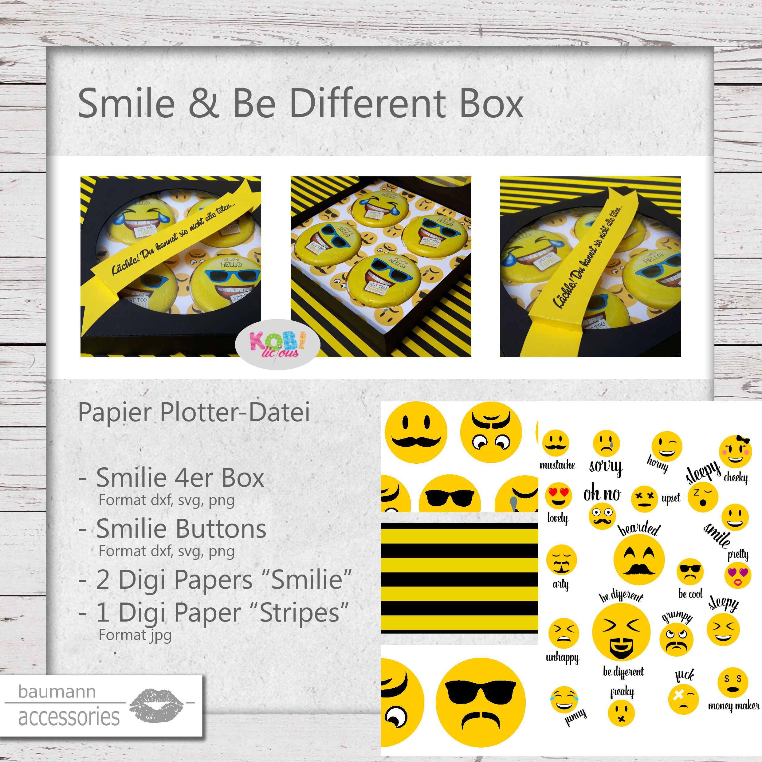 Produkt Smile & Be Different Box