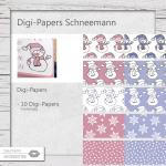 Digi-Papers Schneemann