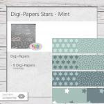 Digi-Papers Sternchen - mint