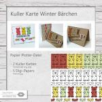 Kuller Karte Winter Bärchen