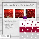 Valentine - Pop-up Karte XOXOXO