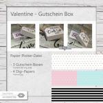 Valentine - Gutschein Box