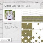 Glitzer Digi-Papers Gold