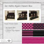 3er Hello Again Hasen Box
