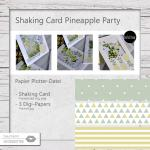 Shaking Card Party Pineapple - 3 Designs