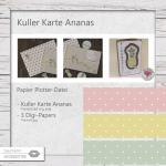 Kullerkarte Ananas - 3 Designs