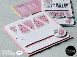 Kullerkarte Melone - 3 Designs
