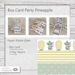 Box Card Party Pineapple