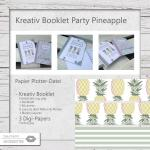 Kreativ Booklet Party Pineapple - fürs Plotten & Nähen
