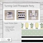 Turning Card Party Pineapple