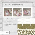 Get OUT! Birthday Card