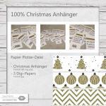 100% Christmas Geschenkanhänger