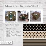 Adventskranz Pop out of the Box